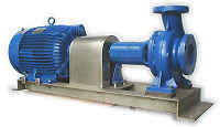 Base Frame Mounted Pumps ISO 2858 (dc) Series Electric Motor Driven
